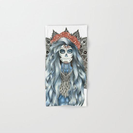 Day of the Dead Woman Mandala Hand & Bath Towel