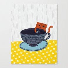 Shark Tea Canvas Print