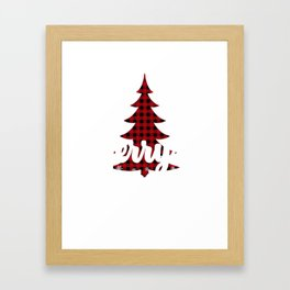 Merry And Bright Holiday Season Gift Framed Art Print