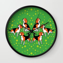 beagles & buttercups Wall Clock
