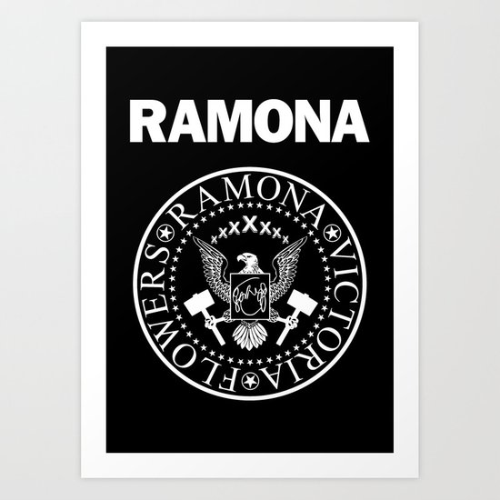 Ramona - Black Art Print
