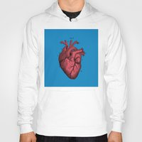 anatomical heart Hoodies featuring Vintage Anatomical Heart Illustration by Digital Crafts