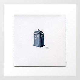 Drawing #93 - A Tiny Dr. Who Tardis Art Print