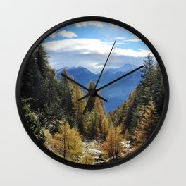 Firs And Larches Wall Clock