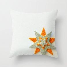 Stars Overlap In A Corner Throw Pillow