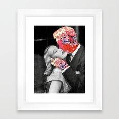 Bloomy Kiss Framed Art Print