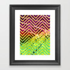 Chevron Scape Framed Art Print