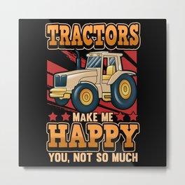 Funny Farmer Saying Farmer Tractor Gift Metal Print