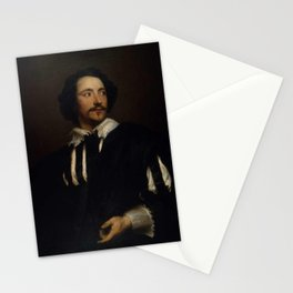 Anthony van Dyck - Portrait of Paulus Pontius (1603-1685) Stationery Cards