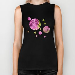 Abstract graffiti texture Biker Tank