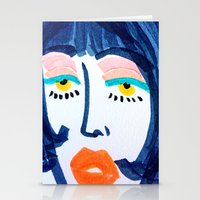 mod Stationery Cards featuring Mod Girl by Bouffants and Broken Hearts