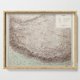 Map of Tibet (1955) Serving Tray