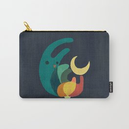 Rabbit and crescent moon Carry-All Pouch