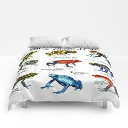 Poison Arrow Frogs of Amazonia Comforters