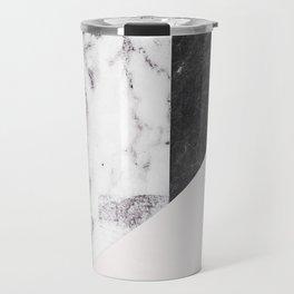 Chic Geometric Marble Collage Travel Mug