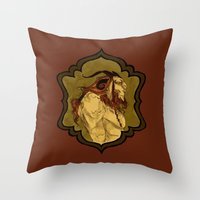 baphomet Throw Pillows featuring Baphomet by Abigail Larson
