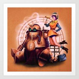 Lucca and Robo Art Print