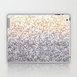 Champagne and Gray Glitter Ombre Laptop & iPad Skin
