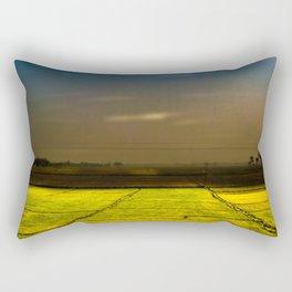 Mustard fields Rectangular Pillow