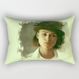 Keira Knightley in hat Rectangular Pillow