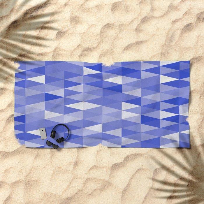 Triangles In Blue Beach Towel
