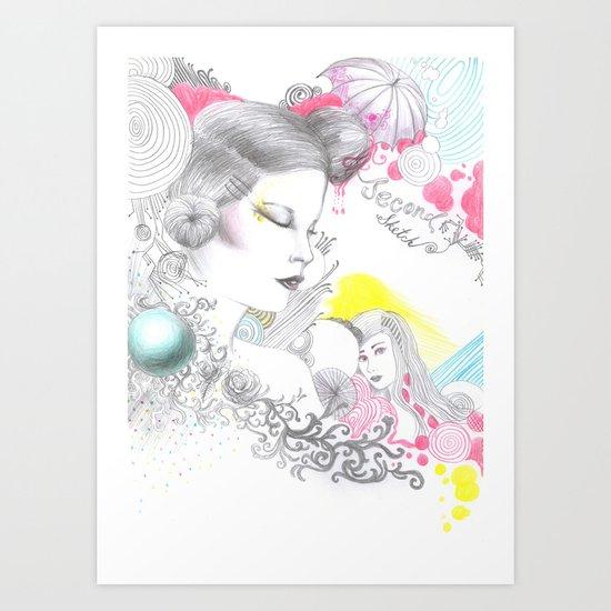 Rainbow Tears Art Print