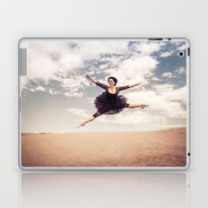 Beautiful Ballet Dancer Leaping Through The Sky Over The Desert  Laptop & iPad Skin