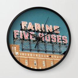 Farine Five Roses Wall Clock