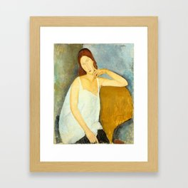 "Amedeo Modigliani ""Jeanne Hebuterne"" Framed Art Print"