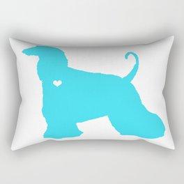 My Afghan Hound heart Belongs To You Rectangular Pillow