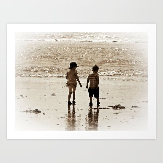 Seaside Memories Art Print