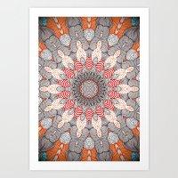 mandala Art Prints featuring manDala by Monika Strigel