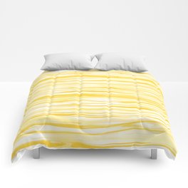 Milk and Honey Yellow Stripes Abstract Comforters