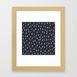 rain drops on dark Framed Art Print