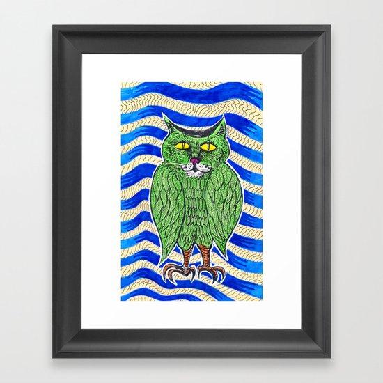 Catlearowl Framed Art Print