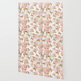 Blushing blooms Wallpaper