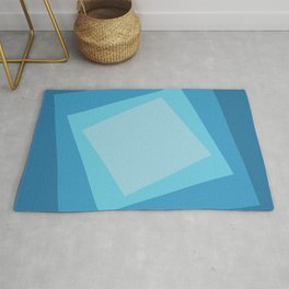 Blue squares. Simple geometric background with a light center for your website or business card. Rug