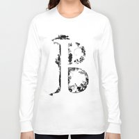 font Long Sleeve T-shirts featuring B FONT by riz lau