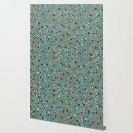 Playful Watercolor dots pattern Wallpaper