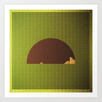 modest mouse Art Prints featuring Music in Monogeometry : Modest Mouse by Katrina Encanto