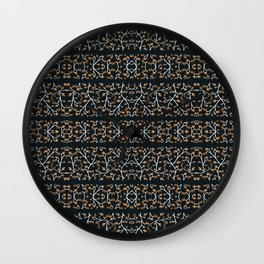 Floral Lace Stripes Print Pattern Wall Clock