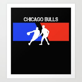 Chicago Bul-ls 2 father funny Art Print