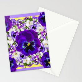 PURPLE PANSIES GARDEN LILAC ART Stationery Cards
