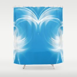 abstract fractals mirrored reacwb Shower Curtain