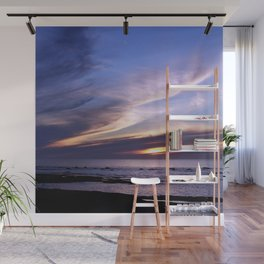 Feathered Clouds at Sunset Wall Mural