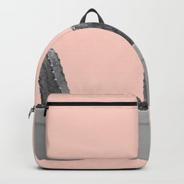 peach with black and white cacti Backpack