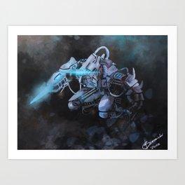 Cyan Mech Assassin  Art Print