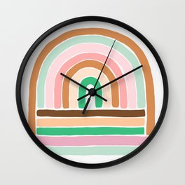 rainbow : original Wall Clock