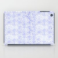 damask iPad Cases featuring Periwinkle Damask by SimplyChic