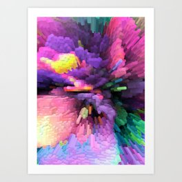 FluO game explOsion Art Print